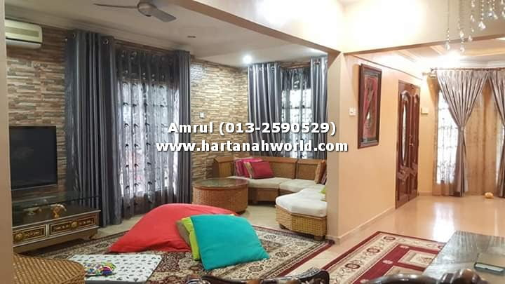 1.5 STOREY TERRACE CORNER TAMAN SRI KERAMAT AU4 FOR SALE